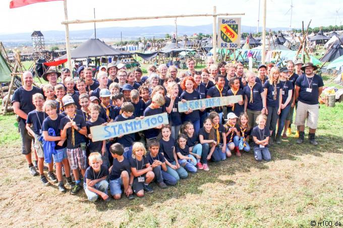 Der Stamm 100 auf dem Bundescamp 2014