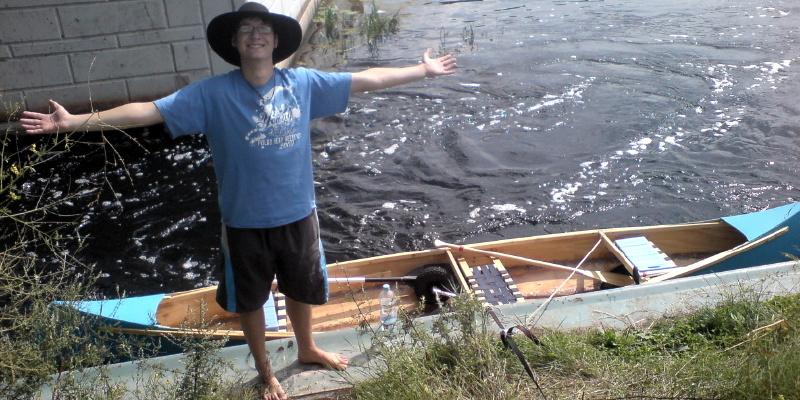 Das selbstgebaute Kanu