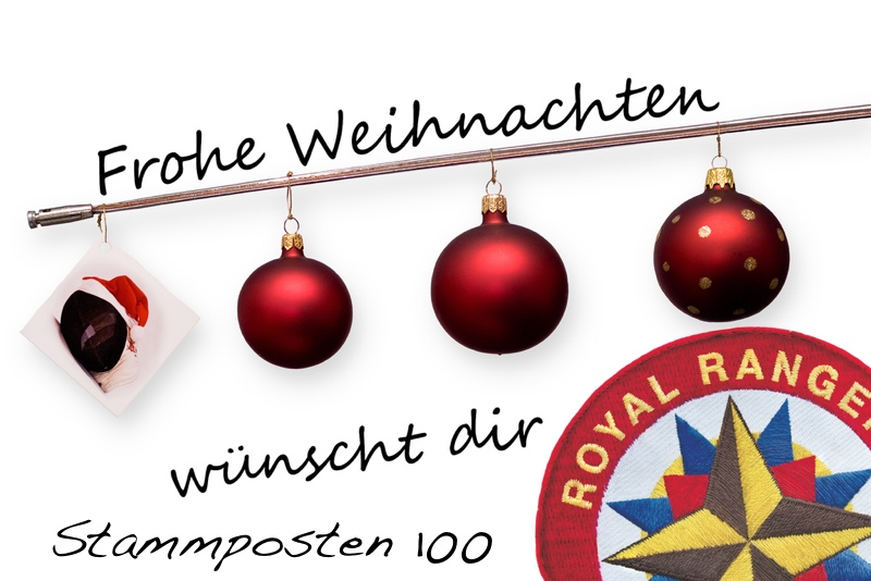Weihnachtskarte der RR 100