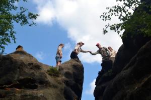 Sommerhajk 2013 | Sprung über den Spalt