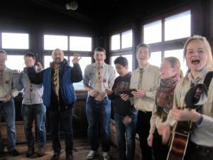 Gesang auf dem Wasserturm