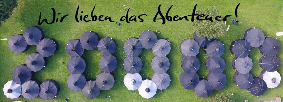 Jurtenburg zum Festakt der 20000 Rangers in Deutschland.